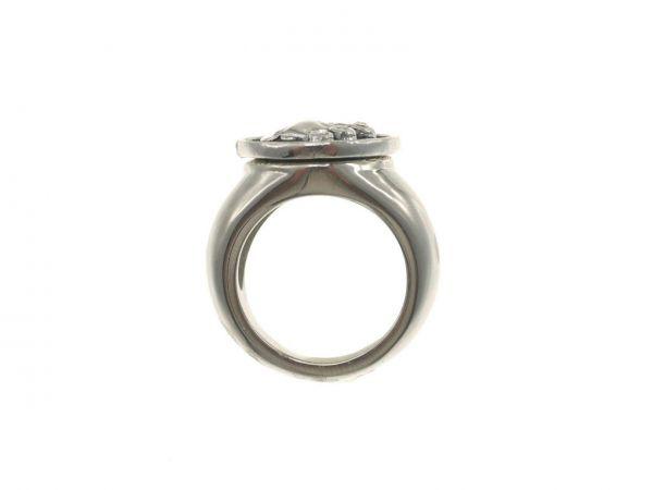 Click-it Ring Gr. 17, Edelstahl, für Button 18mm (ohne Button)