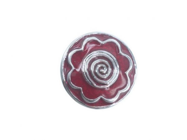 Click-it Button, Veilchen, 18 mm, rot