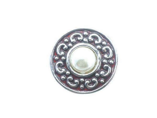 Click-it Button, Perle, 18 mm, braun