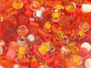 Rocailles Mischun, 50 g, orange