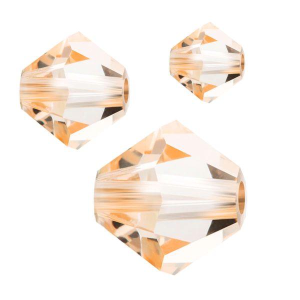 Preciosa Kristall Doppelkegel 6mm 20St., crystal Honey
