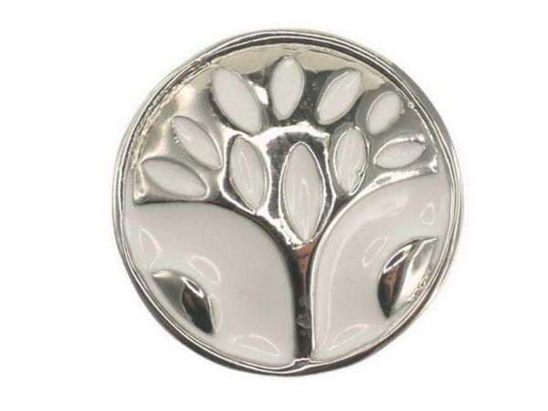 Click-it Button Baum, 18 mm, weiß