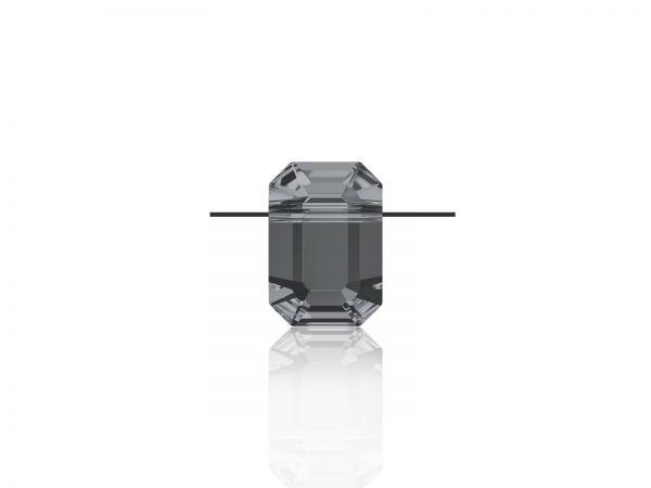 Swarovski Pendulum Bead, 5514, 8x5,5mm, crystal silver night