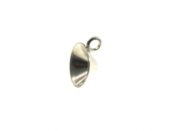 Anhängerfassung f. 15mm Stein, 1 Öse, silberfarbig