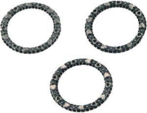 Metallzierteil Ring rund 14mm antikschwarz