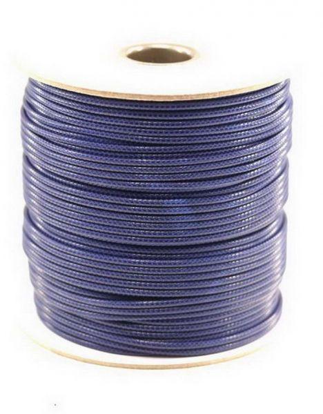 Textilschnur (Polyester) 2mm 1,00m Zuschnitt, dkl.blau