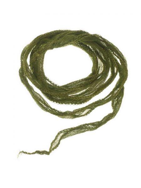 "Seidenband ""Fairy"" handcoloriert, Chiffon, ca.10mm, krinkle, , ca.1,00m, olive"