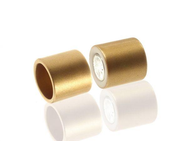 Magnetverschluss Powerclip DE, Zylinder, 15mm, 12mm innen, gold matt