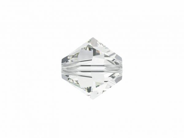 Swarovskiperle, Doppelkegel, konisch, 5328, 8mm, 10 Stück, crystal