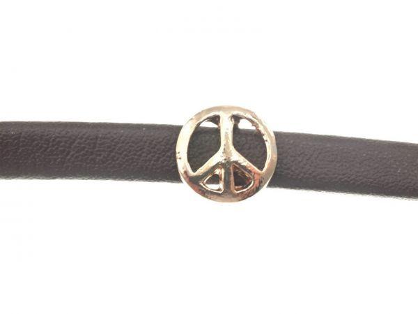 Slide-it Armbandelement, rosegold, flach, Peace