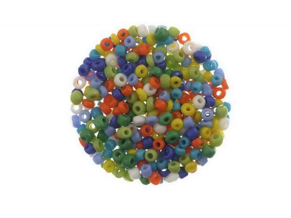 Rocailles ca. 2.8-3,2mm, ca 15 gr opak pastellfarben mix