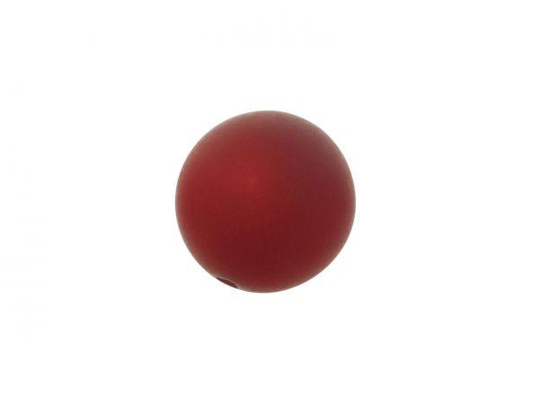 Polarisperle 8mm matt,rubinrot