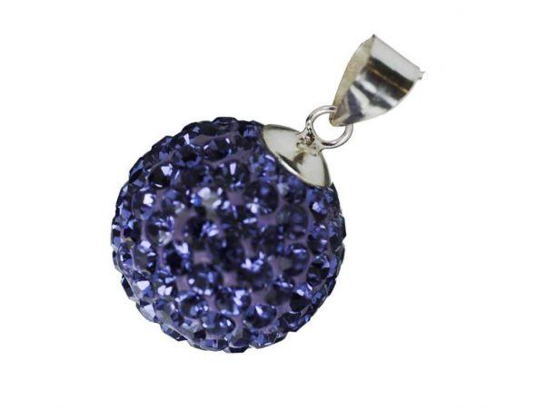 Anhänger ''Diamondball'' 10mm lila