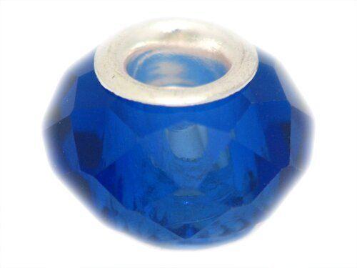 FreeStyle NF Acrylperlen facettiert, ca.9x13mm, dkl. blau