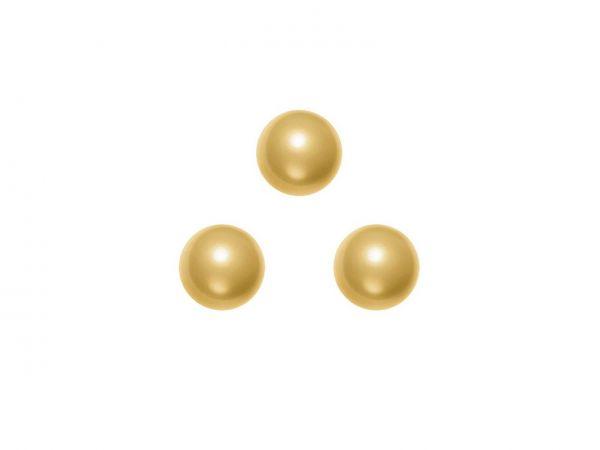 Swarovski crystal pearl 6mm, 40, bright gold