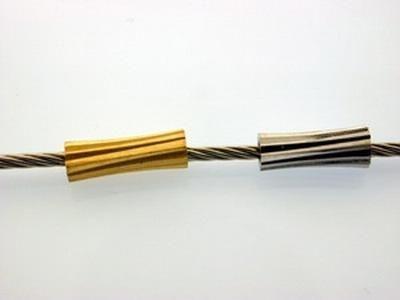 50 Stück Minizierteil Röhrchen gerillt gold