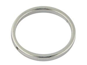 Metallzierteill rund ca.25mm, versilbert