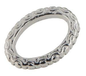 25 Stück Metallzierteil Ring oval 12x18mm hellsilber