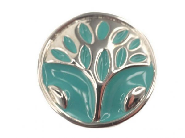 Click-it Button Baum, 18 mm, türkis
