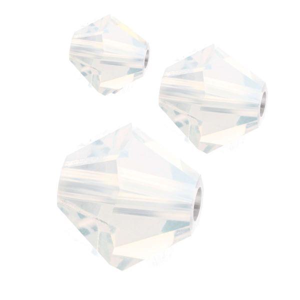 Preciosa Kristall Doppelkegel 4mm 50St., white opal