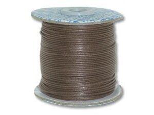Baumwollschnur ca. 1mm dick Rolle ca, 91,00 m dunkelbraun- Sonderpreis -