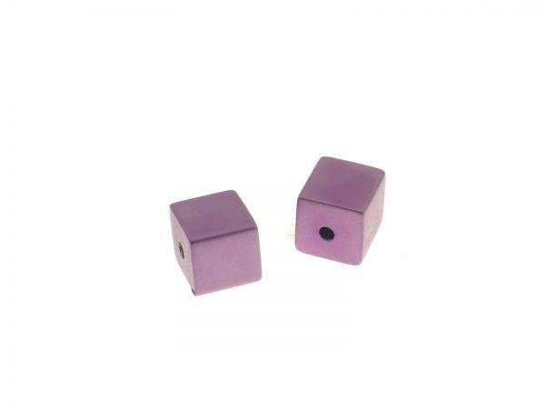 Metallwürfel eloxiert ca. 8mm, lila