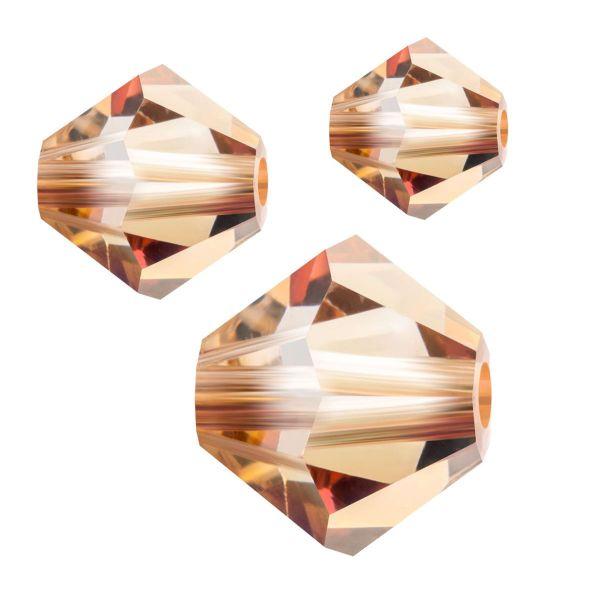 Preciosa Kristall Doppelkegel 4mm 50St., crystal Celsian