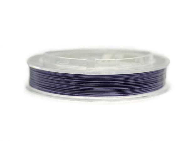 0,5mm wire nylon coated coated 100m lila