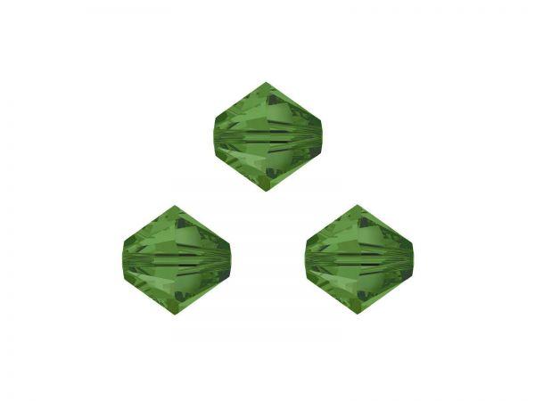 Swarovskiperlen, Doppelkegel, konisch, 5328, 6mm Fern Green