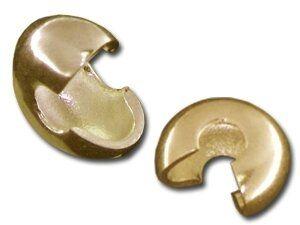 Crimb Cover 4mm (Kaschierperle) 20St. SB vergoldet