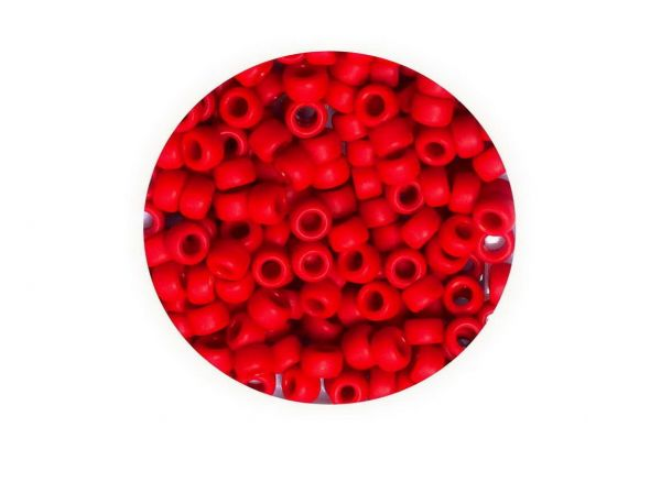 Toho Rocailles 8-0, (ca.3mm), 45F, 4g, Opaque frosted Pepper Red, ca.160 Perlen