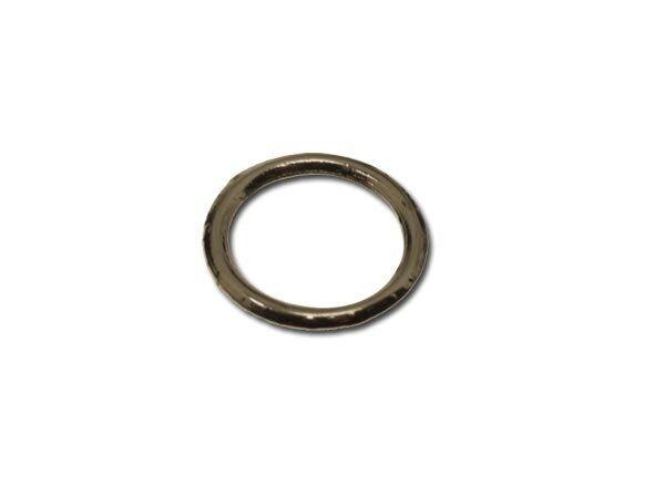Ringel, gelötet, versilbert, ca. 10x1,15mm 10 Stck SB