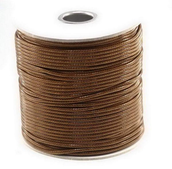 Textilschnur (Polyester) 3mm 45m Rolle, braun