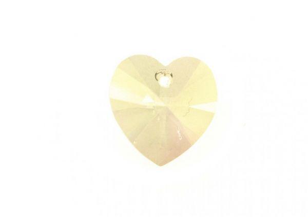 Swarovski Xilion Heart Pendant 18x17.5mm luminous green