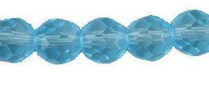 Crystal-Schliffperlen, preiswerte Qualität, 8mm Strang , ca. 45 St, aqua