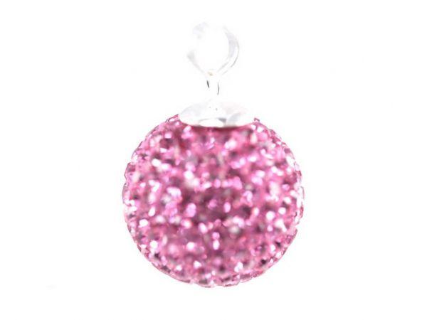 Anhänger 'Diamondball' 20mm rose