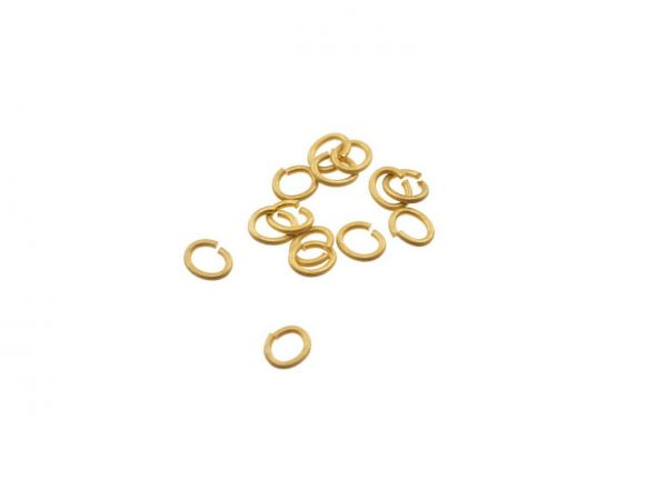 Miniringel Oval 3x2mm, 20 Stück vergoldet