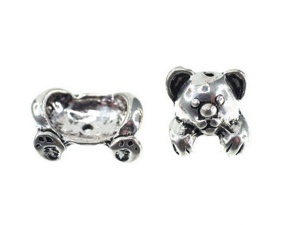 Perlenfiguren Bär ca.13mm 2-teilig