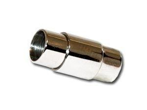 Magnetverschluss m. Sicherung ca.6mm zum Einkleben, Edelstahl