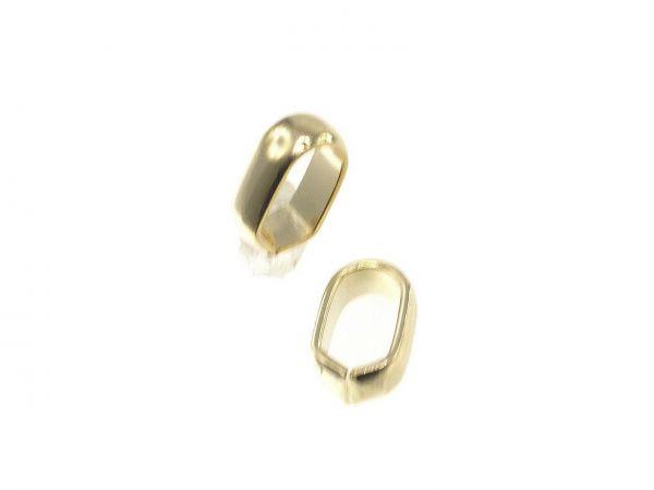 Spacer, high quality, oval ca. 8x5,5mm Innendurchmesser ca.6x4mm, light gold