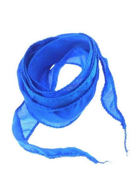 "Seidenband ""Silky"" handcoloriert, Habotai Seide, ca.20mm breit, ca.1,00m, enzianblau"