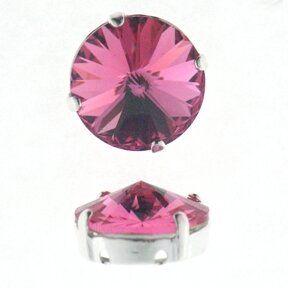 Kessel m.Swarovski-Crystal 8mm rose
