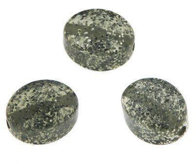 Olive 12x16mm Polaris Glitter black diamond
