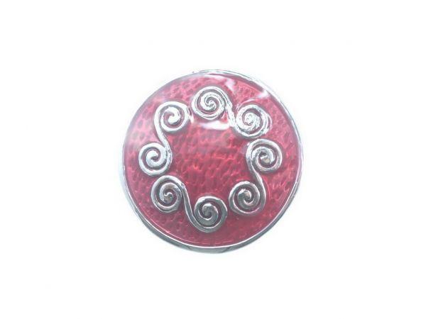 Click-it Button,Ornament Kreise, 18 mm, rot