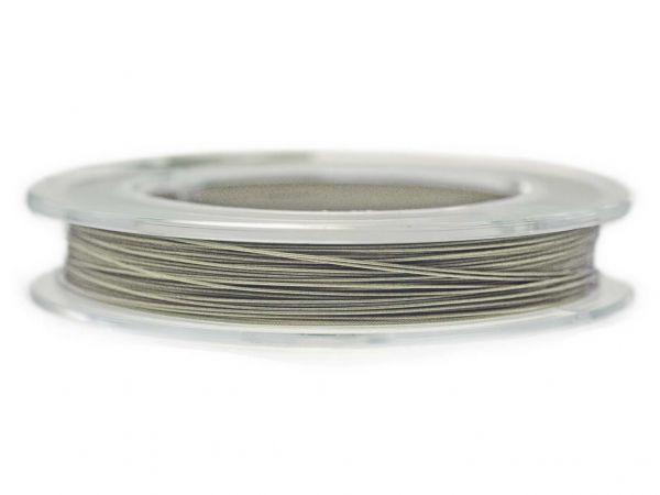 0,4mm Schmuckdraht, nylonummantelt, 10 m Rolle silber
