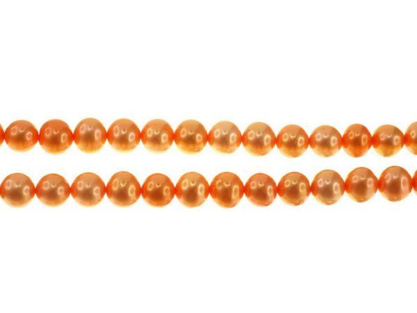 Süsswasserperle Strang ca.40cm 6-7mm orange