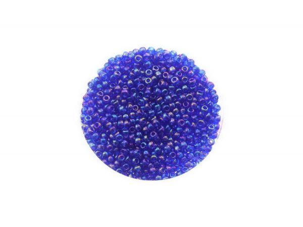 Toho Rocailles 11-0, ca. 2,1mm, 14g, TR87 Transparent Rainbow Cobalt
