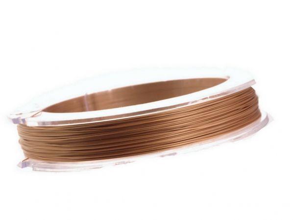 0,4mm Schmuckdraht, nylonummantelt, 10 m Rolle rose gold