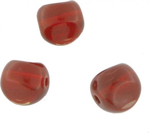 Crystal-Helixbead 8x10mm Strang , ca. 35 St, light siam