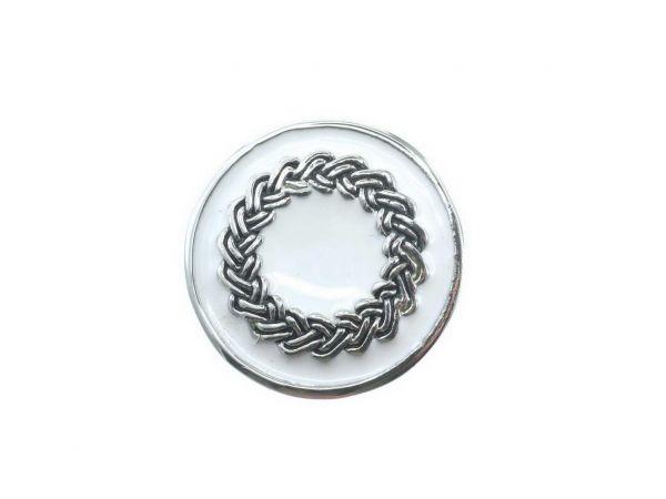Click-it Button, Kranz, 18 mm, weiß